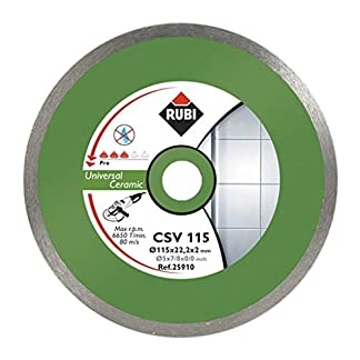 Rubi – Disco de diamante general para cerámica continuo