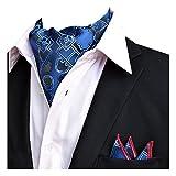 YCHENG Uomo Foulard Da Cravatte Di Lusso In Seta E Fiore Modello Papillon Sciarpa rosa Taglia unica