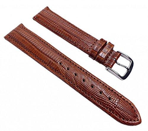 Eulit Teju-Print Ersatzband Uhrenarmband Kalbsleder Band Braun 533_23S, Anstoß:12 mm