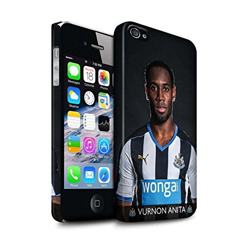 Offiziell Newcastle United FC Hülle / Matte Snap-On Case für Apple iPhone 4/4S / Saivet Muster / NUFC Fussballspieler 15/16 Kollektion Anita