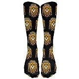 Rasta Lion Raggae Jamacia Soft Casual Fashionable Long Knee High Socks Stockings (full Print)