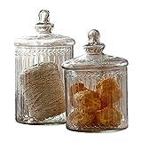 LOBERON Glasdose 2er Set Maledisant, Küchen-Accessoires, Aufbewahrung, klar
