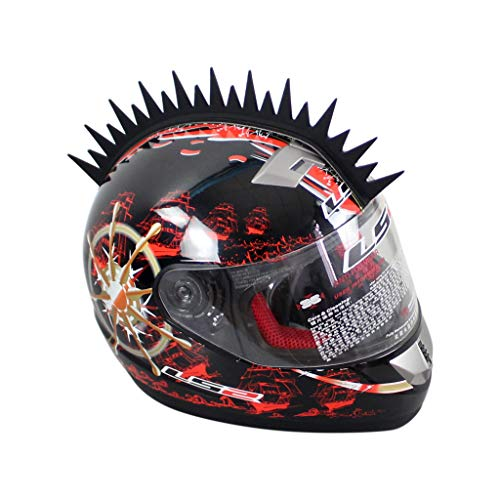 CRESTA PER CASCO Helmet Mohawk SAW BLADE RACING MOTOCROSS Biker Ski Snowbo