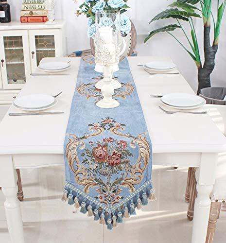 Tischläufer Barock Navy Blaues Dreieck Im Europäischen Stil, Rechteckigen Vintage Tabelle Runner...