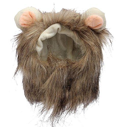 Kostüm Haushaltsgegenstände Aus - EgBert S Pet Dog Cat Künstlicher Löwen-Mane Wig Halloween-Kostüm - Gemischte Zwei Farben