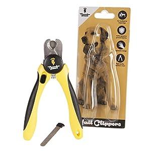 Coupe ongles professionnel pour chiens par Thunderpaws avec butée de protection des ongles, verrouillage de sécurité et lime à ongle - Coupe griffes qui convient aux animaux moyens et grands