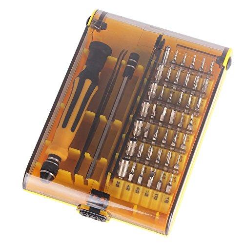 KYG 45 en 1 Destornilladores de Precision Herramientas de Reparación Kit de Fijación para SmartPhone Ordenador Portátiles Relojes Amarillo