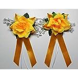 Autoschmuck Antennenschleifen Autoschleifen Hochzeit, Gelb (3,95€ Stk)