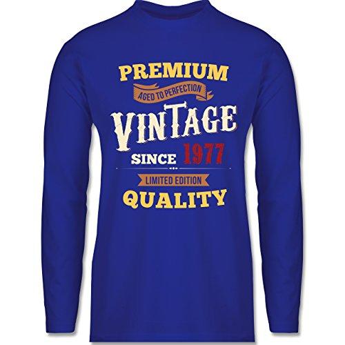 Geburtstag - 40. Geburtstag Vintage 1977 - Longsleeve / langärmeliges T-Shirt für Herren Royalblau