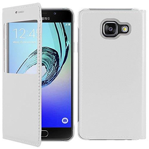 ebestStar - Compatibile Cover Samsung A5 2016 Galaxy SM-A510F Custodia Portafoglio Protezione Libro Flip con Finestra View, Bianco [Apparecchio: 144.8 x 71 x 7.3mm, 5.2'']