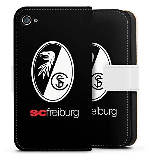 Apple iPhone 6 Hülle Case Handyhülle SC Freiburg Fanartikel Fussball Sideflip Tasche weiß