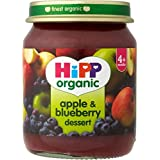 Hipp bio Apple & Blueberry Dessert 4mois + (125g) - Paquet de 6