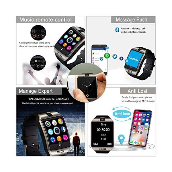 Smartwatch, Impermeable Reloj Inteligente Redondo con Sim Tarjeta Camara Whatsapp, Bluetooth Tactil Telefono Smart Watch… 4
