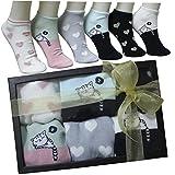 FERETI Socken Geschenk Box Damen Kätzchen Herzchen St Valentin Frauen Gift Mama Mädchen Katze Frau Geschenkideen Herzen katzenmotiv Herz Motiv
