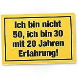 DankeDir! Ich Bin Nicht 50 Jahre, PVC Schild - Geschenk 50. Geburtstag, Geschenkidee Geburtstagsgeschenk Zum Fünzigsten, Geburtstagsdeko/Partydeko/Party Zubehör/Geburtstagskarte