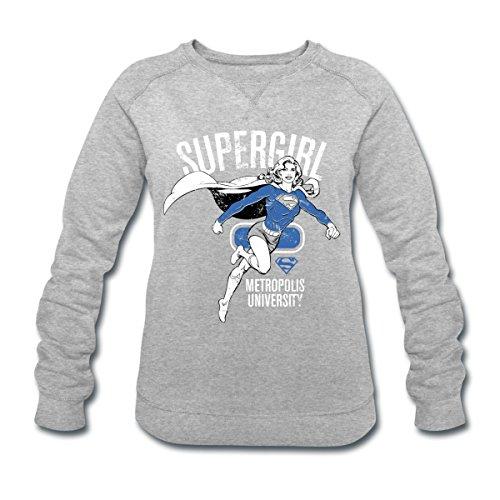Spreadshirt DC Comics Ligue De Justice D'Amérique Héros Sweat-shirt bio Stanley & Stella Femme gris chiné