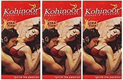 Kohinoor Condom Xtra Time - 10 Count (Pack of 3)