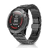 Uhrenarmband für Garmin Fenix 5X mit Removal Tool, VNEIRW DE Titanium Leichter Harder Quick Release Smart Watch Band Ersatzarmband Loop (Fit Handgelenk Größe 6,7~9,0 Zoll (170mm-230mm), Schwarz)