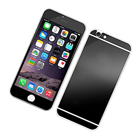 Schwarz iPhone 6/6S Displayschutz Glas-Guizen Ultra Dünn 3D Curved [Legierung Full Deckung] maximalen Vor und Rückseite Panzerglas Displayfolie Panzerfolie Schutzfolie Schutzglas für Apple iphone 6/6S 4.7 Zoll, 1 Set (vorne und hinten)-Black