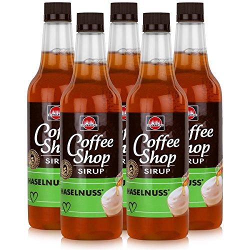 Schwartau Coffee Shop Sirup Haselnuss 650ml - Verfeinert ihren Kaffee (5er Pack)