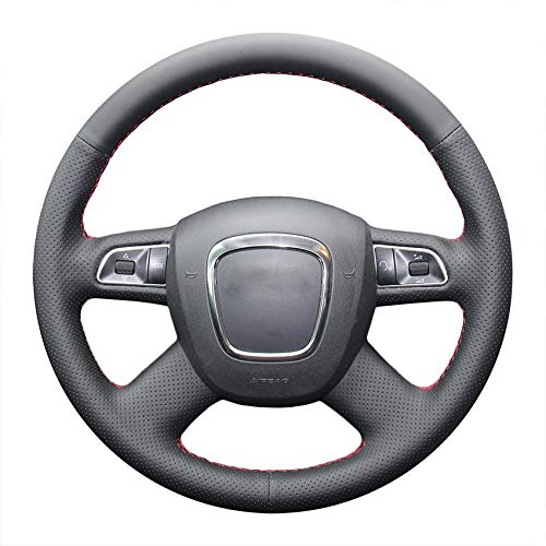 HCDSWSN Cover per Copri Volante per Audi A4 B7 B8 A6 C6 A8 2009 Q7 (2005-2011) Q5 (2008-2012) Pelle Microfibra