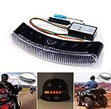 12V Wireless LED Motor Motorrad Helm Blinker Stop Bremslicht Sicherheitslicht