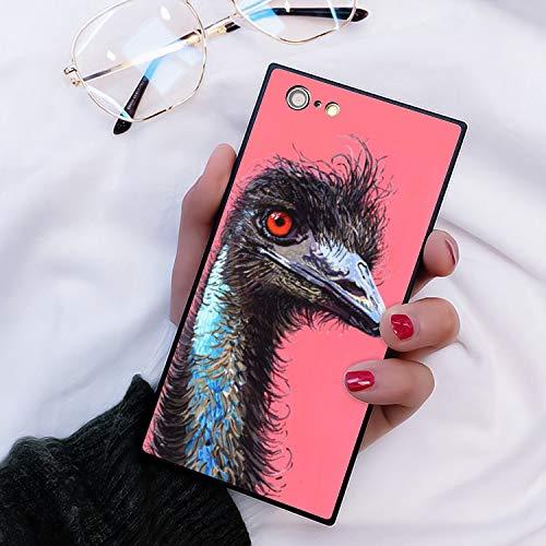 Naikuyi iPhone 6 Plus iPhone 6S Plus Square Edges Phone Case Soft TPU Slim Case for iPhone 6/6S Plus - Ostrich Plus Square Neck