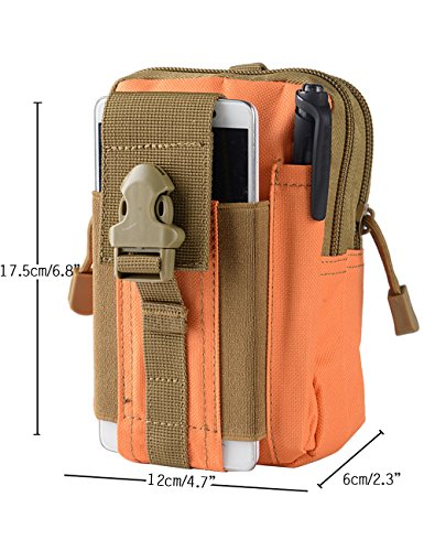 Menschwear Nylon Multi Purpose Utility Gadget Tool Cintura Denaro Sport Esterno Borsa Cachi Arancione