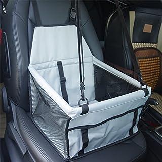 Tragbare Pet Hund Autositzerhöhung mit Wechselrahmen Sicherheit Leine und Reißverschluss Aufbewahrungsfach für Hunde und Katzen & #-; Grau