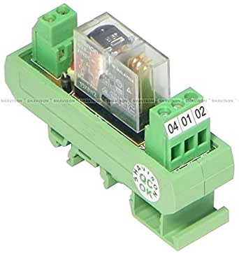 Shavison Relay Module AS361-24V-OE, 1C/O, 1 Channel, 24VDC Coil, OEN Relay,Reverse Blocking Diode, Contact Rating : 28VDC/230VAC, 5A