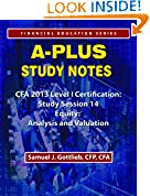 #9: APSN CFA 2013 Level 1 Study Session Equity Analysis and Valuation