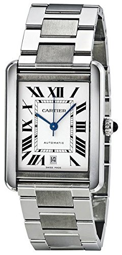 CARTIER MEN'S TANK SOLO STEEL BRACELET & CASE AUTOMATIC ANALOG WATCH W5200028