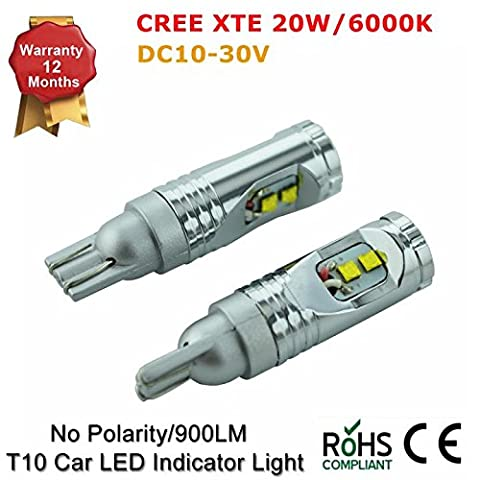 CANBUS 501 W5 W T10 T15 W16 W 168 192 921 15 W Cree LED de camion de voiture Indicateur Ampoule Lampe Xenon Blanc 10–30 V Package of 2 Irems