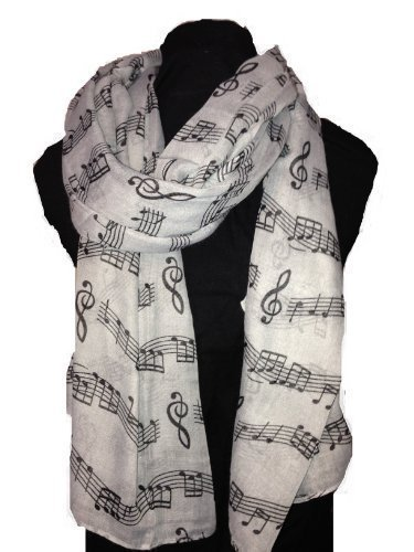 big-scarf-grey-with-black-music-notes-print-scarf-lovely-warm-winter-scarf-fantastic-gift