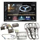 Kenwood DNX-5180DABS Navigation Naviceiver Bluetooth DAB+ Digitalradio Android Auto Smartphone CarPlay USB CD DVD Autoradio FLAC Doppel Din Einbauset für Opel Astra J
