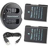 Newmowa EN-EL14 Batería de repuesto (2-Pack) y Kit de Cargador Doble para Micro USB portátil para Nikon EN-EL14, EN-EL14a y Nikon P7000, P7100, P7700, P7800, D3100, D3200, D3300, D5100, D5200, D5300,D5500