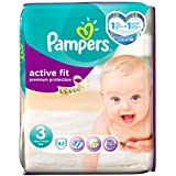 Pampers Active Fit Couches Taille 3Essential Lot de 42couches