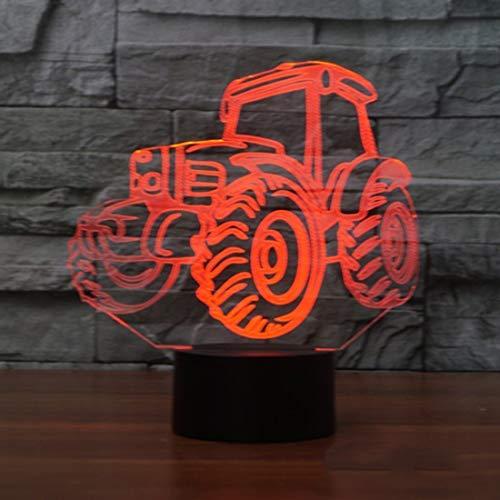 3D Traktor Glühen LED Lampe 7 Farben erstaunliche optische Täuschung Art Skulptur Ferneinstellung Lichter produziert einzigartige Lichteffekte und 3D-Visualisierung für Home Decor-kreative Geschenk (Led-licht Traktor)