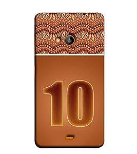 Fuson Designer Back Case Cover for Nokia Lumia 730 Dual SIM :: Nokia Lumia 730 Dual SIM RM-1040 (Roman Number 10 theme)