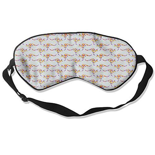Novelty Irregular Abstract Kangaroo Unisex Sleep Mask Blinder Shade Eye Mask Eyeshade for Travel,Home,Hotel,Plane -