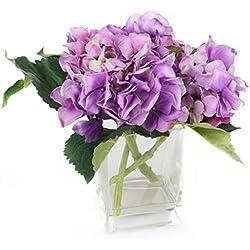 Floral Elegance FP018LC - Arreglo de hortensia artificial, 18 cm, color lila