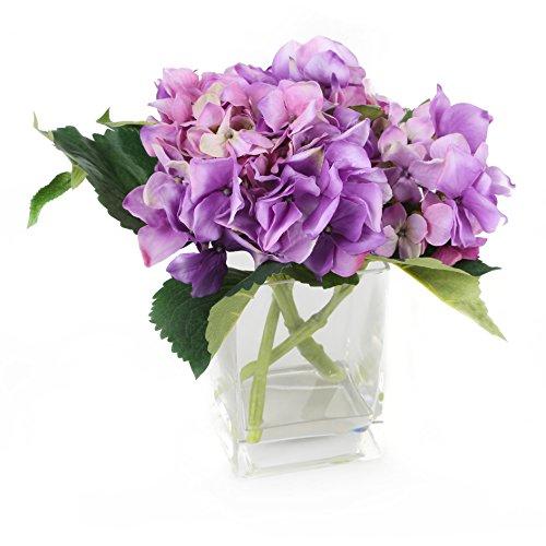 Floral Elegance FP018LC - Hortensia artificiel mauve de 18 cm