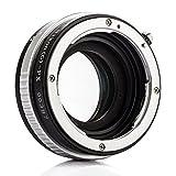 Zhongyi Lens Turbo Adapter II für Nikon AI Objektiv an Fuji FX Kamera wie Fuji Pro1 X-E1 X-E2 X-M1 X-A2 X-A1 X-T1