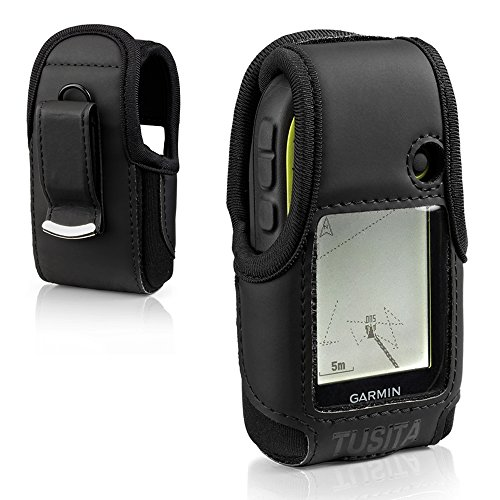 armin eTrex 10 20 20X 22X 30 30X 32X - Gürtelschnalle Leder Schutzhülle - Handheld GPS Navigator Zubehör ()