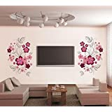 Wall Sticker For Bed Room Kids Room Living Room Hall Walls 'Flowers With Vine' Wall Sticker (PVC Vinyl, 60 Cm X 90 Cm) By FRIENDS OFFICE AUTOMATION