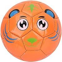 Ruiqas Equipo Deportivo de Entrenamiento de Fútbol de Tamaño 2 Pelota de Juego de Fútbol para Niños del Equipo de Estudiantes (Tigre Naranja)