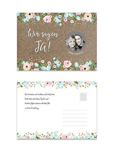 25 Save the Date Karten zum Rubbeln (Hochzeit Save Date The)