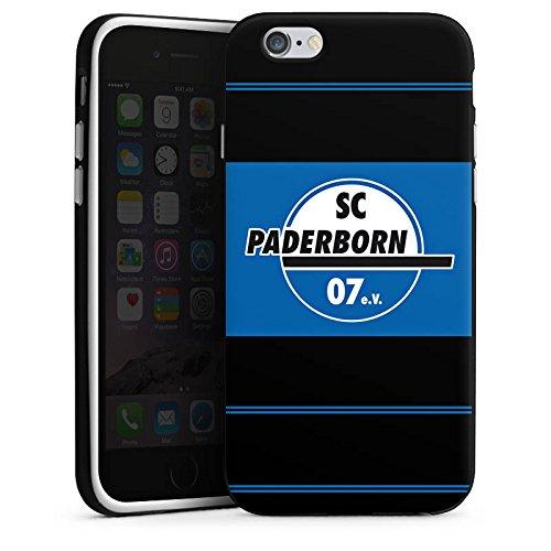 Apple iPhone X Silikon Hülle Case Schutzhülle SC Paderborn Fanartikel Fussball Silikon Case schwarz / weiß