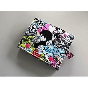 Portemonnaie, Geldbörse Frauen, Geldbörse Damen, Portemonee Damen, Handmade Einzelstück, Manga