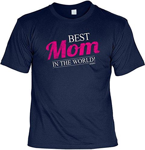 Mama Shirt für die liebste Mutter Best Mom in the World Weihnachtsgeschenk Geschenk Geburtstagsgeschenk Navy-Blau